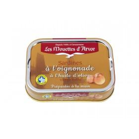 Sardines à l'oignonade à l'huile d'olive vierge extra