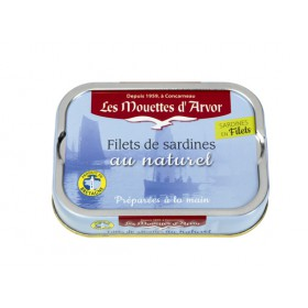 Filets de sardines au naturel