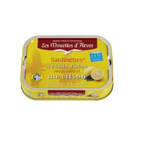 Sardinettes à l'huile d'olive vierge extra et au citron