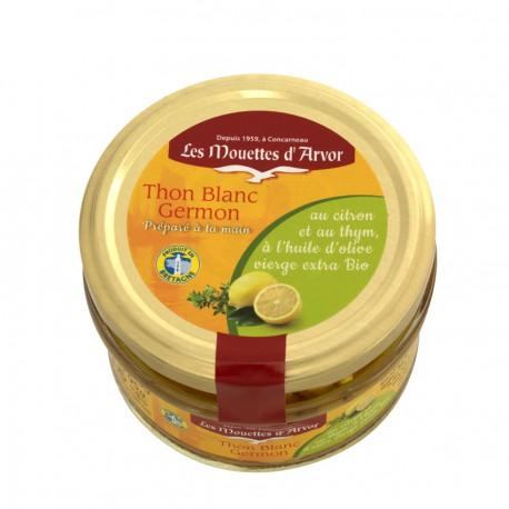 Thon blanc germon au citron et au thym BIOen verrine