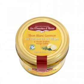 Thon blanc germon au citron et au thym à l'huile d'olive vierge extra